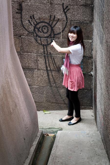 zara skirt 粉紅色短裙