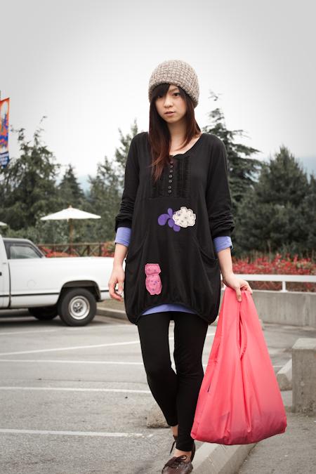 pink BAGGU bag 粉紅色購物袋