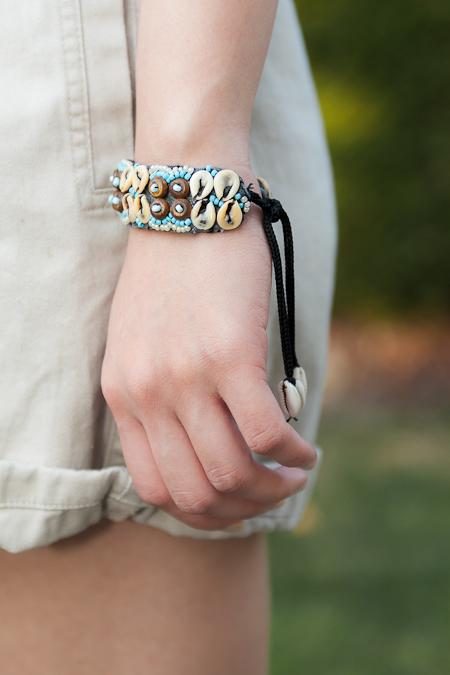 貝殼手環 seashell bracelet