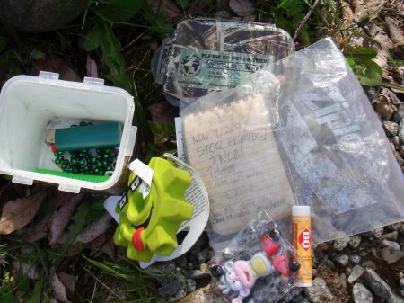 geocache content and logbook