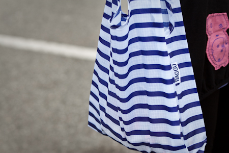 Baggu Striped Reusable Shopping Bag 條紋環保袋