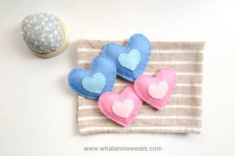 DIY hand warmers 情人節愛心不織布手作環保暖暖包 (2)
